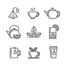 Tea Icons Set. Vector Isolated...
