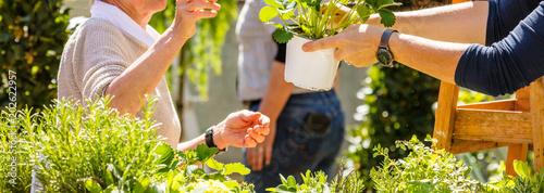 Fényképezés Gartenarbeit und blumen Verkauf