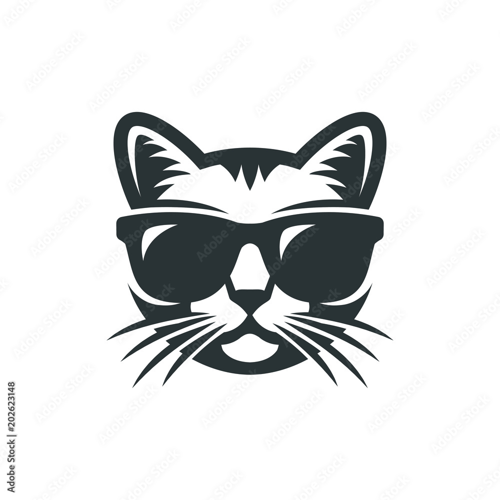 Fototapety, obrazy: Cat in sunglasses