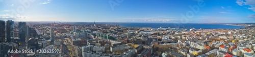 Poster Aerial view of City Tallinn Estonia
