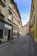 Narrow streets in the old town in Warsaw