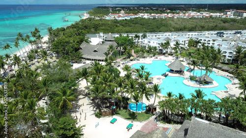Foto auf Gartenposter Karibik Aerial panoramic view of La Romana, Dominican Republic
