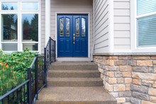 House Front Entrance Navy Blue...