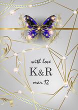 Wedding Invitation With Jewelr...