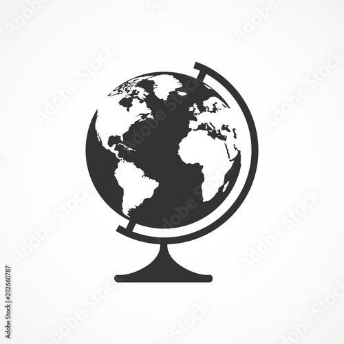 Fotografie, Obraz  Vector image of a globe icon.