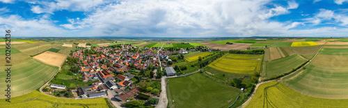 360° Luftbild Panorama - Monzernheim in der Rheinpfalz Fototapet