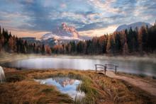 The Beautiful Alpine Lake Lago...