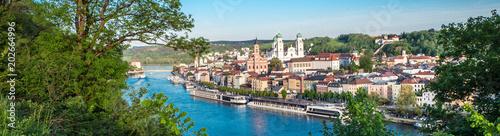 Carta da parati Stadtpanorama von Passau