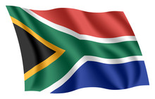 South Africa Flag. Isolated Na...
