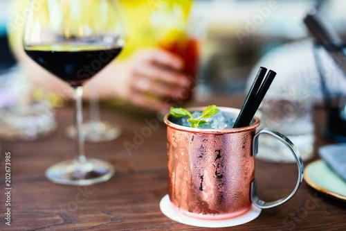Fotografía  Russian mule cocktail