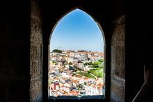 Old Lisbon Portugal Panorama. ...