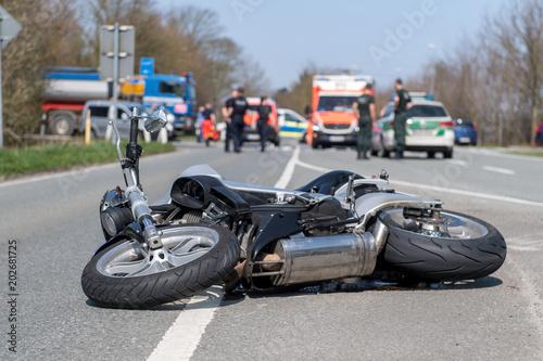 Fototapeta premium wypadek motocykla