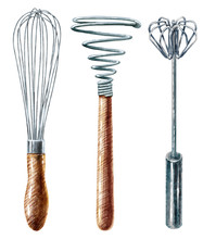 Whisk  Watercolor Illustration...