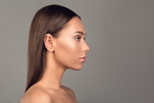 Side View Profile Of Attractiv...