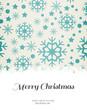 Merry christmas against snowflake pattern