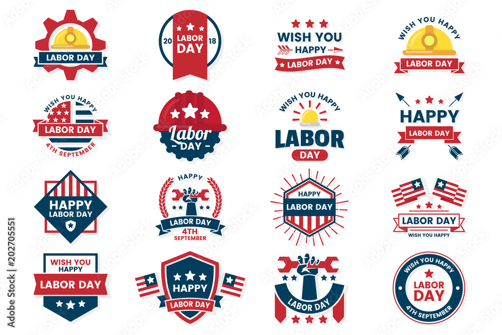 Fototapety, obrazy: Labor Day Vector label for banner