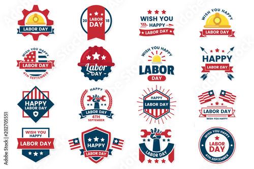 Fotografie, Obraz  Labor Day Vector label for banner