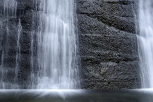 Abstract Close  Up Of A Waterfall  Smooth Lines