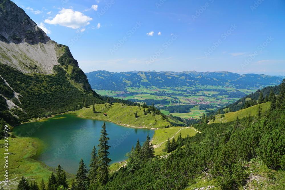 Fototapety, obrazy: Bergsee in den Alpen, Bayern