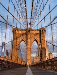 Brooklyn bridge and Manhattan skyline early morning