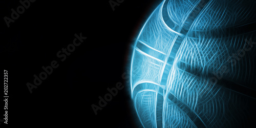 Abstract dark basketball background with copy space.
