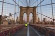 New York, Brooklyn bridge and Manhattan skyline