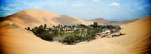 Sand Dunes Surround The Huacac...