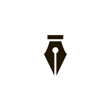 Fountain Pen Icon. Sign Design