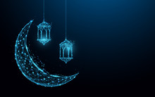 Crescent Moon With Hanging Lam...