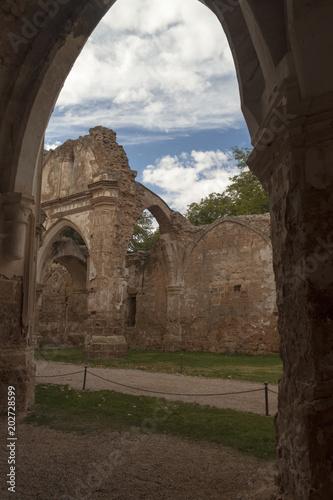 Foto op Aluminium Rudnes Interior stone monastery in Nuevalos, Zaragoza. Community of Aragon, Spain