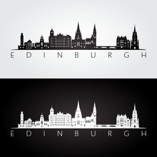 Edinburgh Skyline And Landmark...