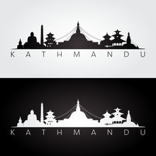Kathmandu Skyline And Landmark...