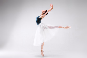 Ballerina on a white background