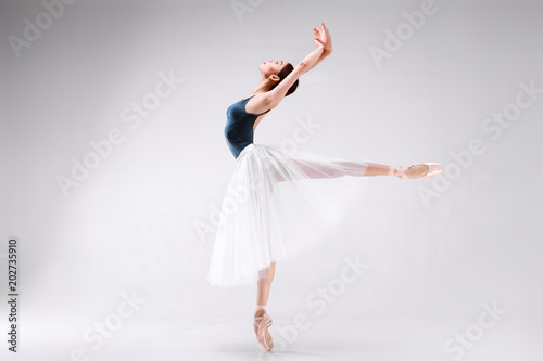 Ballerina on a white background