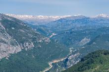 Beauty Nature Landscape Of Taurus Rock Mountains At Turkey Antal