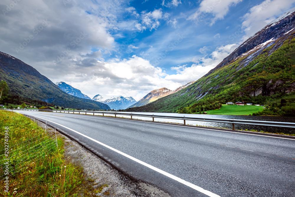Fototapeta Road in Norway Beautiful Nature Norway