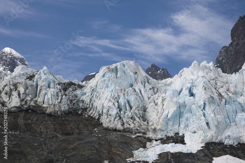 Foto op Plexiglas Arctica Drygalski Fjord South Georgia Islands, blue ice on mountain
