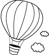 Black And White Hot Hair Balloon Vector Illustration