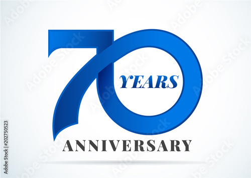 Fototapeta  70 Years Anniversary,anniversary emblems 70 in anniversary concept template desi