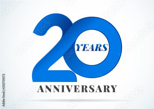 Cuadros en Lienzo 20 Years Anniversary,anniversary emblems 20 in anniversary concept template desi