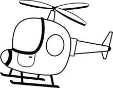 Black And White Helicopter Vec...