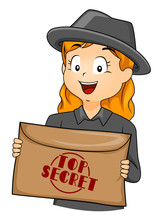 Kid Girl Agent Top Secret Enve...