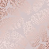 Vector pattern with fern leaves and imitation of rose gold for design - 202766136