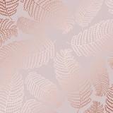 Wektor wzór z liści paproci i imitacja różowego złota do projektowania - 202766136