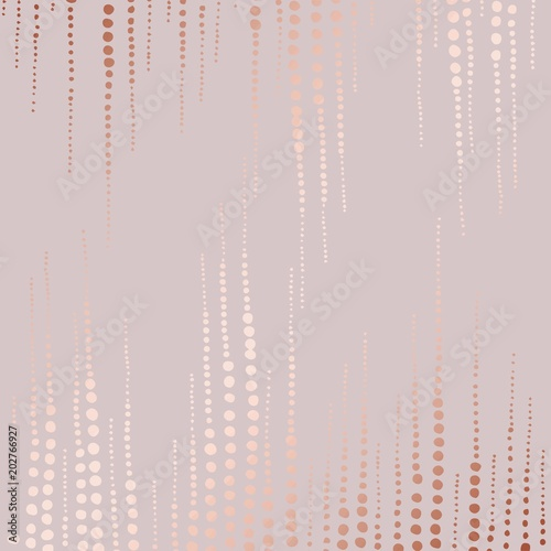 Abstract vector pattern with rose gold imitation Wallpaper Mural