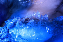 The Polar Arctic Northern Lights Ice Cave In Norway Svalbard In Longyearbyen City