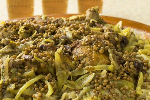 Traditional Moroccan homemade Rfissa