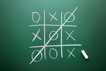Tic Tac Toe Game Drawn By Chal...