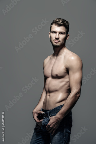 Foto op Aluminium Akt muscular male body