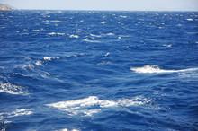 Blue Waves In Open Sea